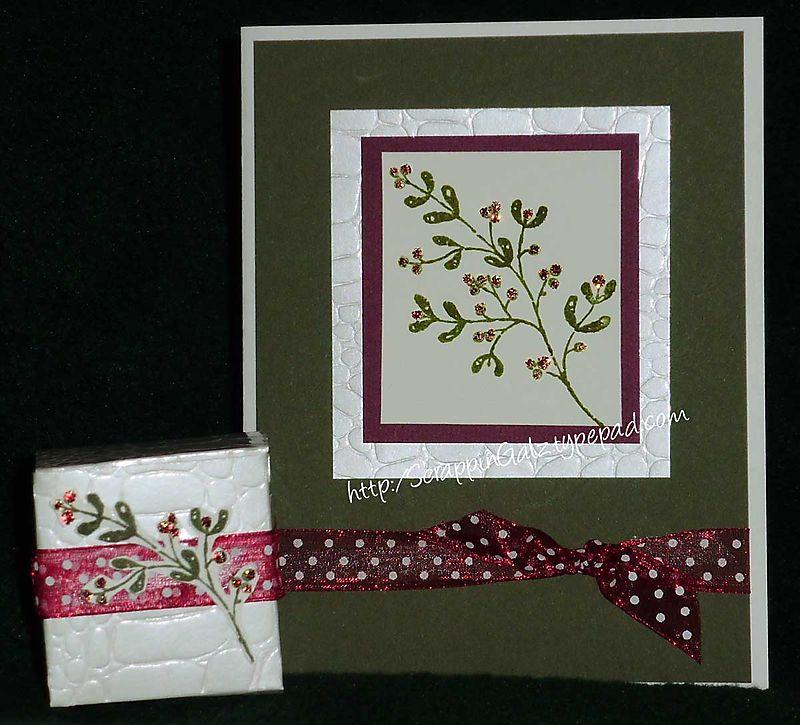 Christmas card and box copy