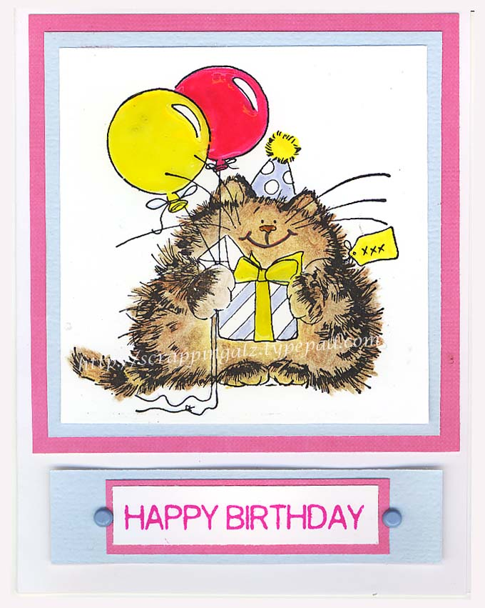 Cat happy birthday
