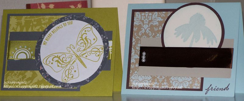Two cards one layout
